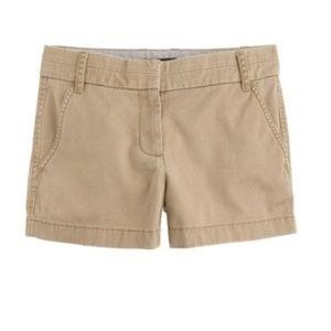"J Crew 3"" Chino Broken In Twill Brown Short Size 6"